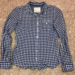 Blue checked top